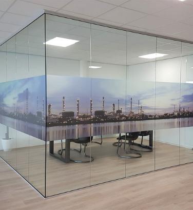 indoor signing - glasfolie